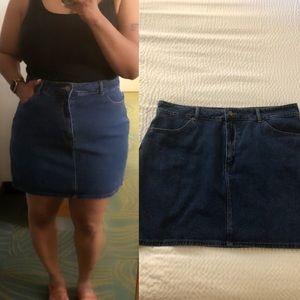 Cute short Blue Jean skirt.